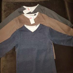 3 V- neck Pullover Shirts